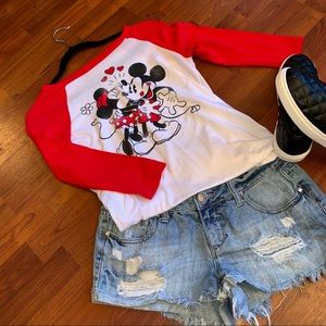 Mickie Mouse & Minnie Mouse Baseball Tee
